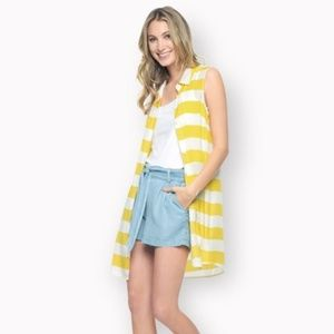 Splendid Capistan Rugby Yellow Stripe Dress XS